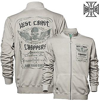West Coast choppers zip ride hard sucker zip vest