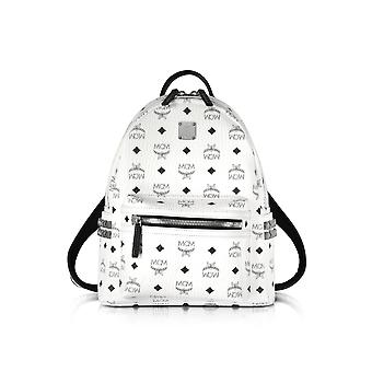 MCM ladies MMK6SVE37WT001 white faux leather backpack