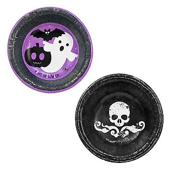 Halloween Pack of 16 Disposable Paper Bowls Spooky Party Tableware Supplies