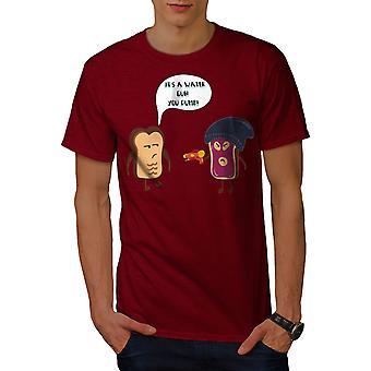 Еда шутка мужчин RedT рубашки   Wellcoda