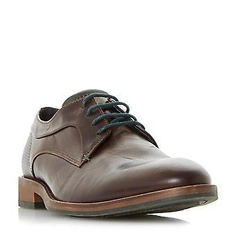 Dune BRYSONN Mens Casual Lace Up Gibson chaussures en brun