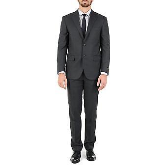 Corneliani Mens костюм с длинными рукавами темно серый супер 130\
