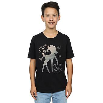 Disney Boys Bambi Winter Deer T-Shirt