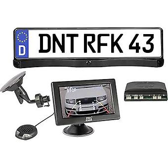 Wireless reversing camera system RFK Integro 4.3 dnt Distance scale lines, Proximity sensors Suction cup, Lincense plate