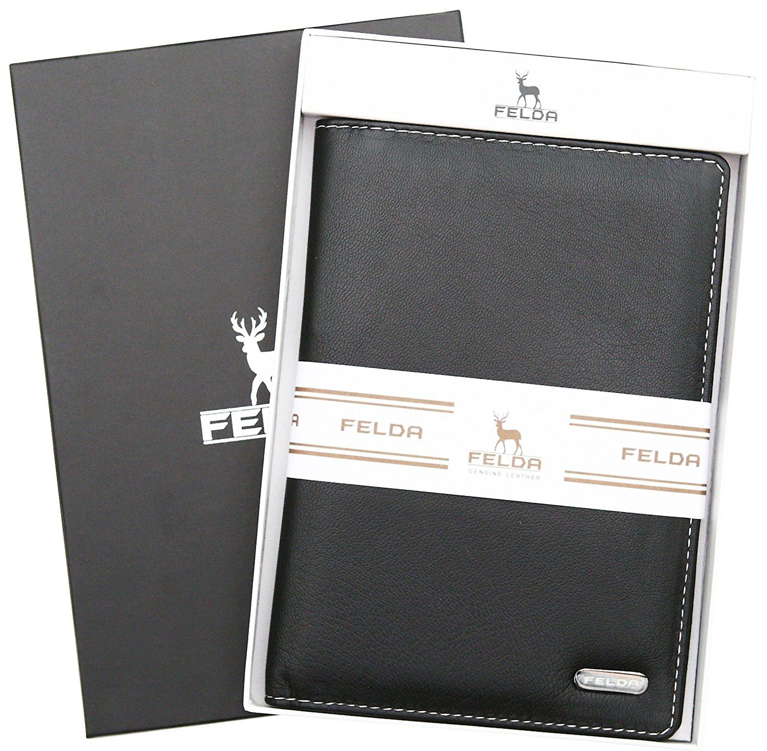 Felda Rfid Blocking Leather Passport Cover Holder Travel Wallet With Credit Card Slots - Gift Boxed