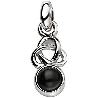 Beginnings Agate Celtic Pendant - Silver/Black