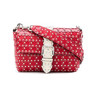 Red Valentino women's PQ2B0722XIQVER red leather shoulder bag