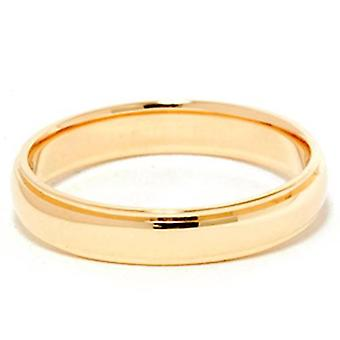 4mm Step Cut Polished Wedding Band 14K Yellow Gold