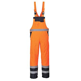 Portwest Mens Contrast Bib And Brace Overall - Unlined (S488)