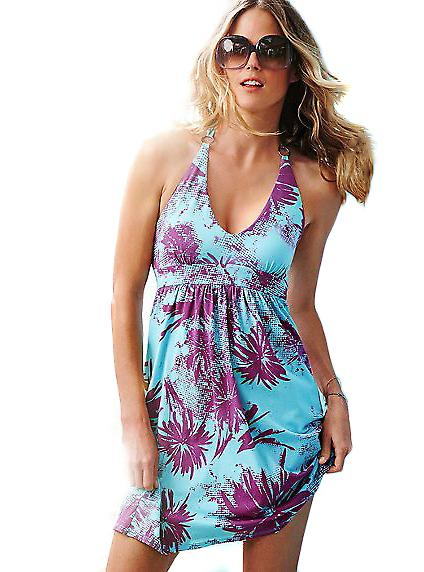 Waooh - Mode - Robe plage multicolore et turquoise