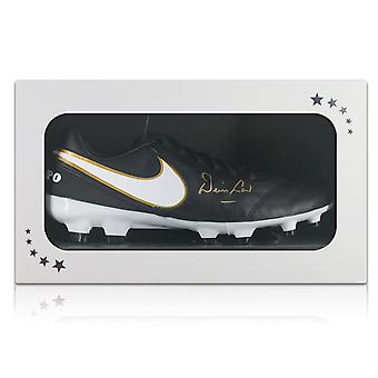 Denis Law Signed Nike Football Boot In Gift Box