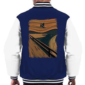 Stillhet skrik bilde blanding menn Varsity jakke