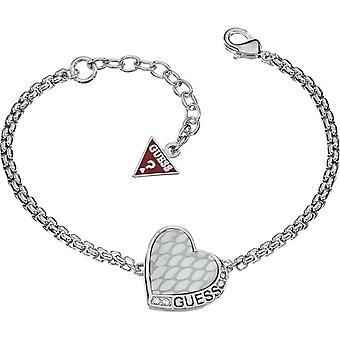 Guess Damen Armband Armkette Edelstahl silber UBB11443