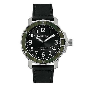 Nautica mens watch NAD15011G wristwatch leather