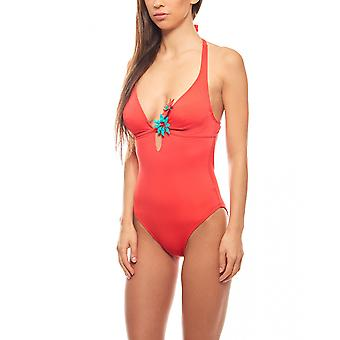 Temple Cup swimsuit with deep back cutout C Cup Ladies red heine