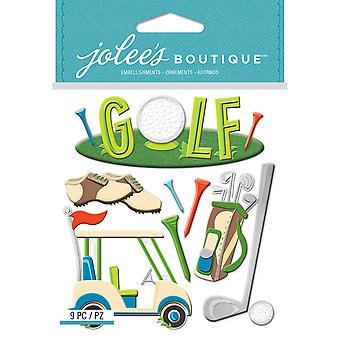 Jolee's Boutique Dimensional Stickers-Golf