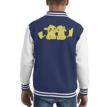 Pokemon Pikachu Love Kiss Kid's Varsity Jacket