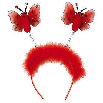 Acessório de borboletas vermelho bandana m. insetos