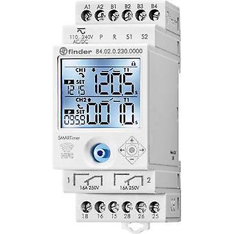 DIN rail mount timer Operating voltage: 230 V AC Finder 84.02.0.230.0000