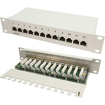 LogiLink NP0041 12 portar nätverk patchpanel CAT 6 1 U
