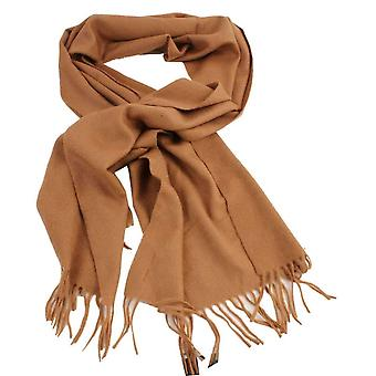 Bassin and Brown Jupp Large Plain Cashmere Scarf - Camel