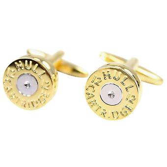 David Van Hagen Shotgun Cartridge Cufflinks - Gold