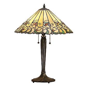 Interiors 1900 Jamelia 2 Light Large Table Lamp With