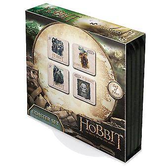 The Hobbit Set Of 4 Cork Backed Drinks Coasters