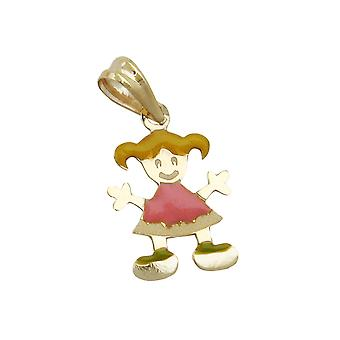 Pendants for kids children's jewellery gold 375 pendant, girl, 9 KT GOLD