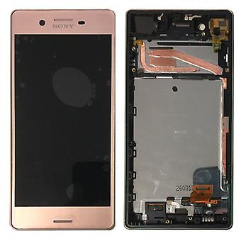 Sony display LCD complete unit with frame for Xperia X F5121 F5122 pink spare parts