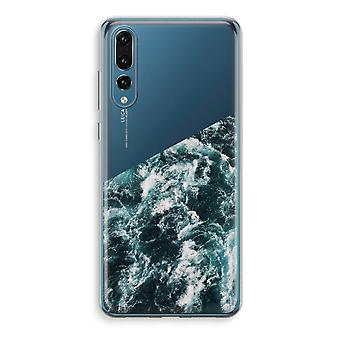 Huawei P20 Pro Transparent Case (Soft) - Ocean Wave