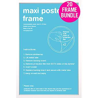 GB biały Maxi Plakat Plakaty 20 klatek 61x91.5cm pakiet