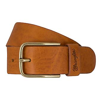WRANGLER belt leather belts men's belts Cognac 7459