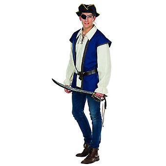 Pirat Jack Kostüm Herren Karneval Seeräuber Fasching Seefahrer