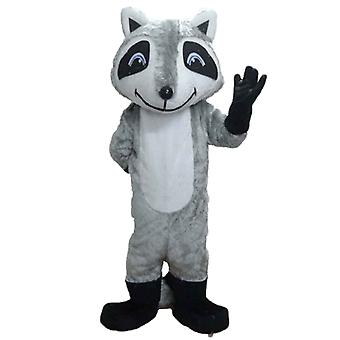 mascot raccoon tricolour with blue eyes SPOTSOUND