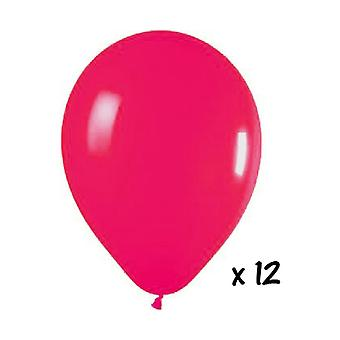 Ballon en de ballon accessoires 12 Fuchsia ballonnen