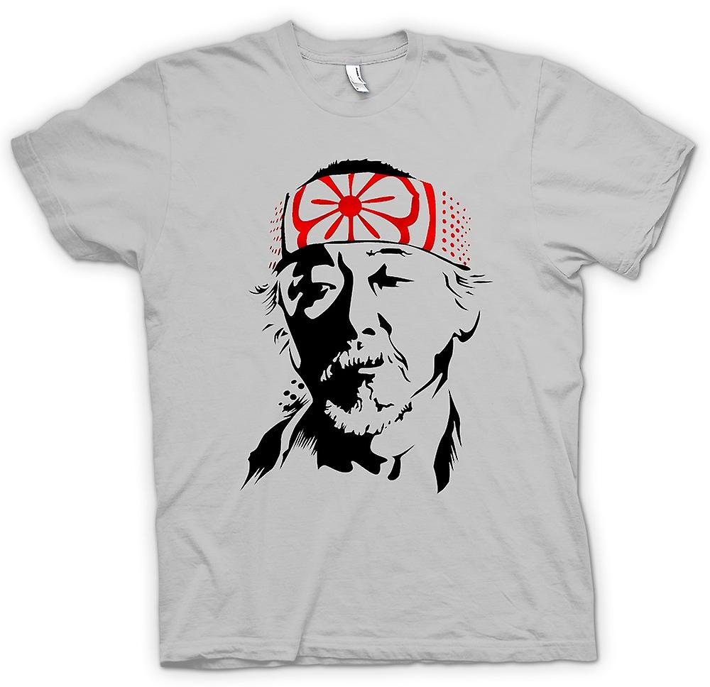 Heren T-shirt - Karate Kid heer Miyagi - portret