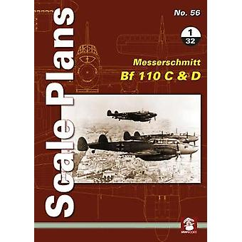 Scale Plans No. 56 - Messerschmitt Bf 110 C & D 1/32 by Scale Plan