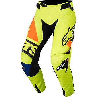 Alpinestars Fluorescent-Blue-Orange 2018 Techstar Factory MX Pant