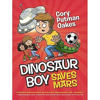 Dinozaur chłopiec zapisuje Mars