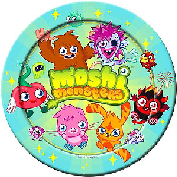 Moshi monstre Party papir plater 23cm