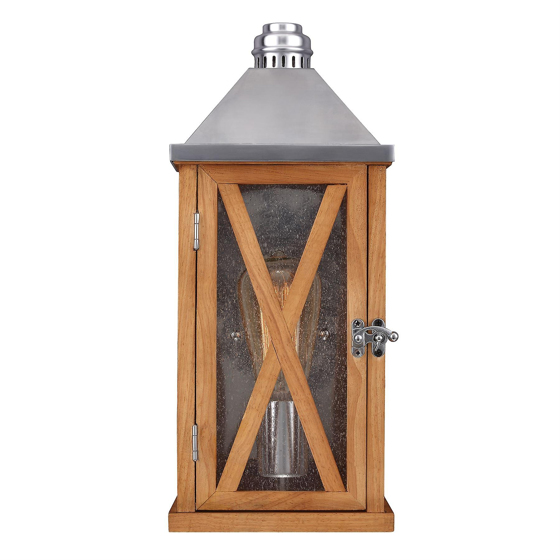 Lumiere Oak Small Outdoor Wall Lantern With Pyramid Roof - Elstead Lighting Fe   Lumiere   FE LUMIERE S2OAK