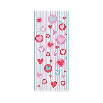 20 Long Cellophane Party Bags - Simply Hearts | Kids Party Loot Bags