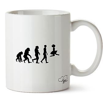 Hippowarehouse Irish Dancer Evolution Printed Mug Cup Ceramic 10oz