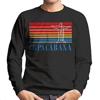Copacabana Stripes And Statue Men's Sweatshirt