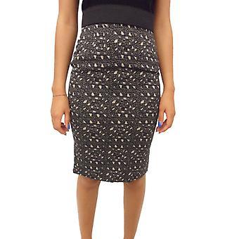 Dolce E Gabbana Black Silk Skirt