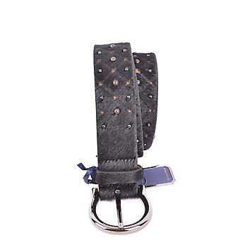 Jacob Cohen Black Pony Skin Belt