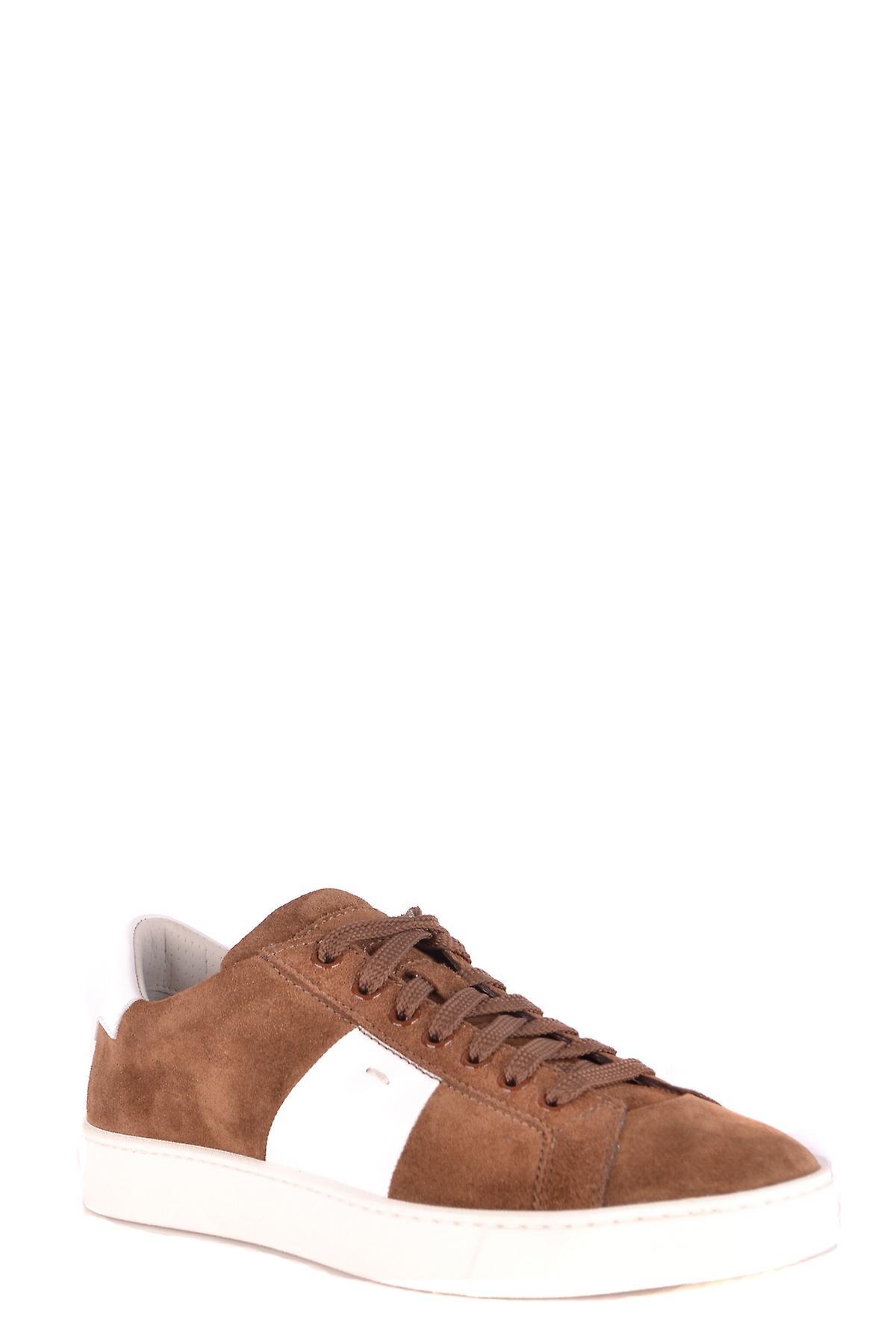 Santoni braun Wildleder Sneakers