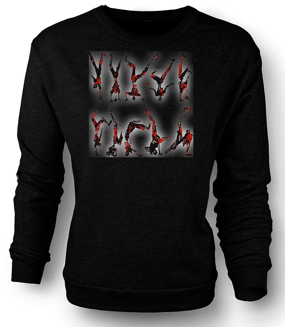 Mens Sweatshirt Zombie Break Dancing