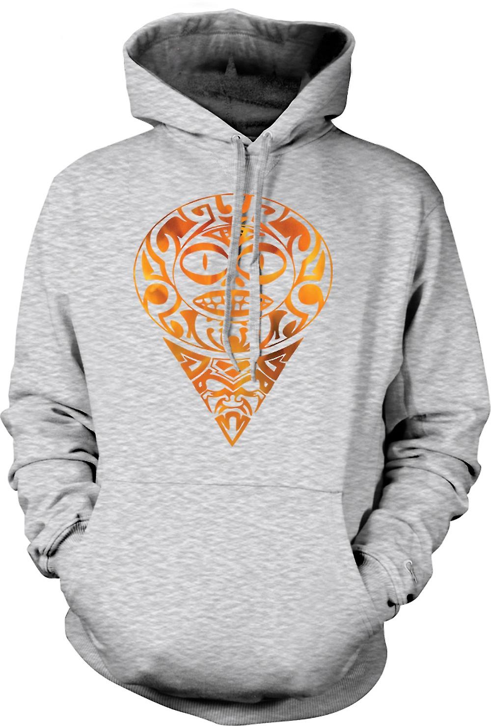 Tribal - tatouage aztèque Flames - Mens Hoodie